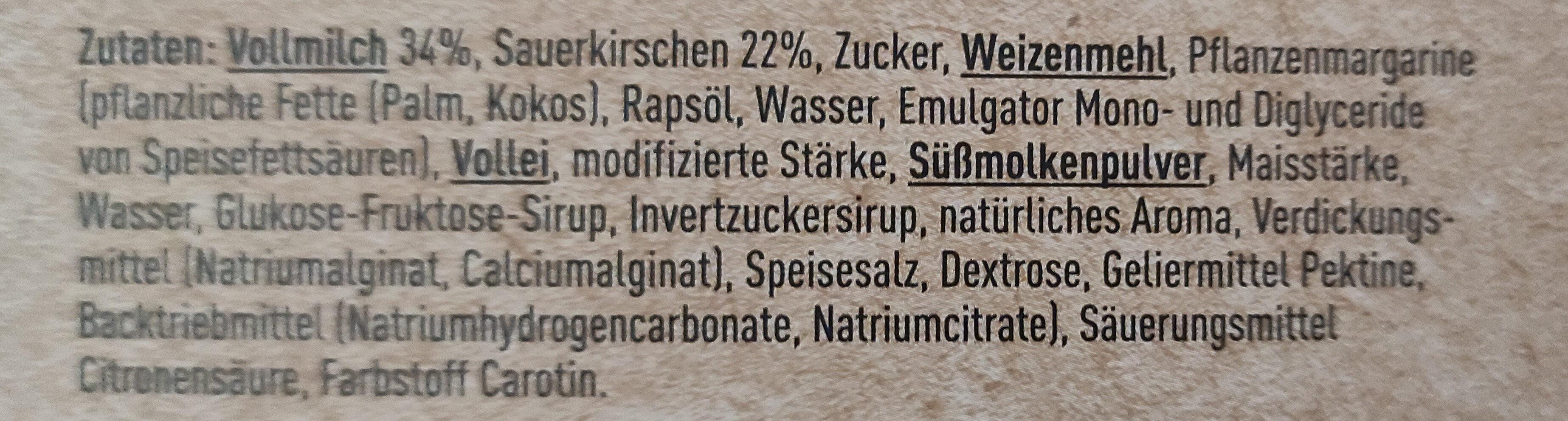 Pudding Kirschkuchen - Ingredienti - de