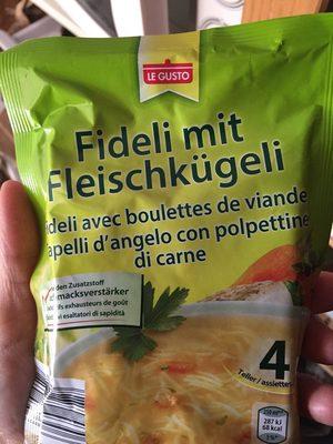 fideli avec boulettes viande - Prodotto - de