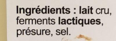 Comté au lait cru AOP affiné en cave 10 mois 32%MG - Ingrediënten