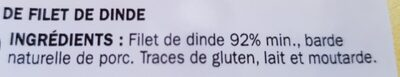 Rôti de filet dinde - Ingredienti - fr