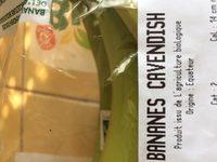Bananes cavendish - Ingrédients - fr