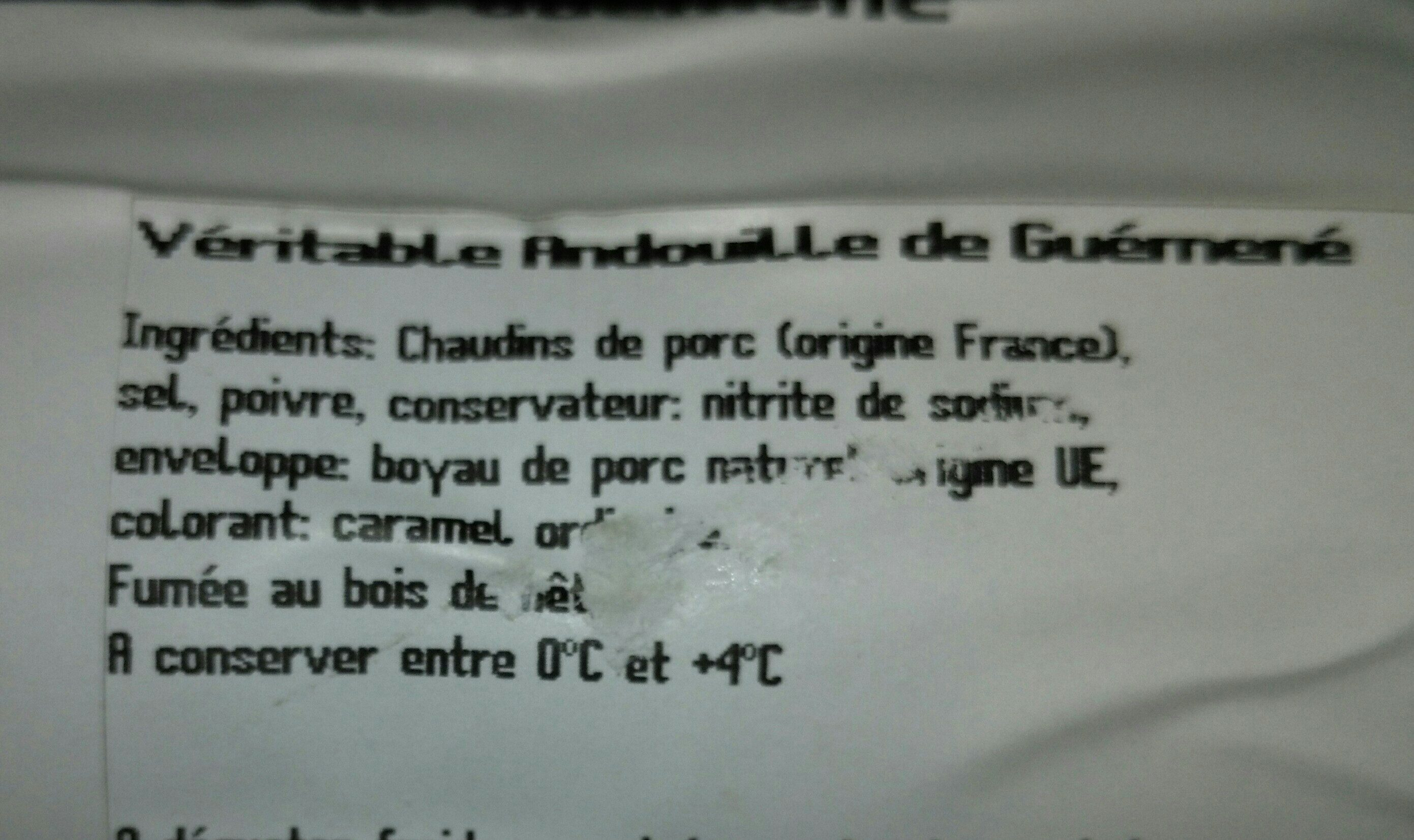 Andouille de Guéménée - Ingrediënten