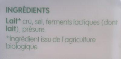 Comté au lait cru - Ingrédients - fr