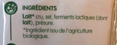 Comte bio au lait cru >6mois - Ingrédients - fr