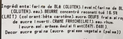 Brioche coupe - Ingrediënten