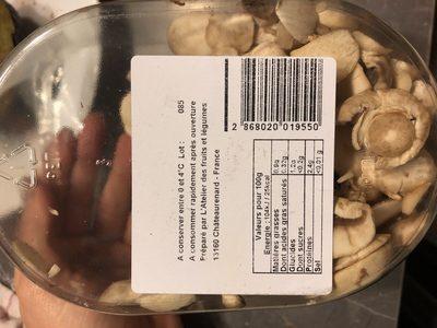 Champignons - Ingrédients