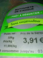 Bâtonnets mangue - Ingrédients - fr