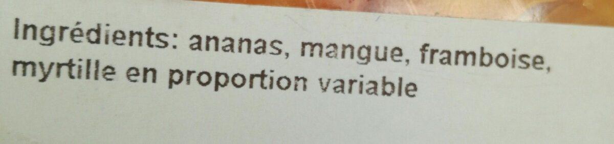 Salade de fruits - Ingredients