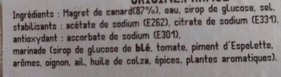 Magret de canard mariné - Ingrediënten