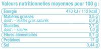 Brochette de porc marinée méditerranée, - Informations nutritionnelles