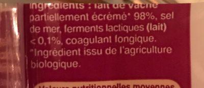 Emmental français - Ingredienti - fr