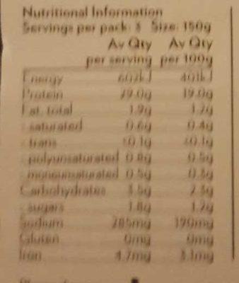 Herb and Garlic Kangaroo Steak - Nutrition facts - en