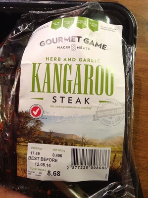 Herb & Garlic Kangaroo Steak - Product