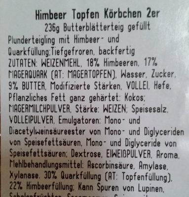 Himbeer Topfen Körbchen - Ingredients