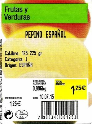 Pepinos tipo español - Ingrédients