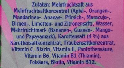 Multivitaminsaft - Ingredients