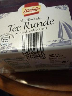 Tee Runde Akt holländisches Gebäck - Produkt