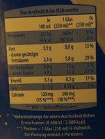 H Milch, 3, 5% - Nährwertangaben - de