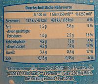 H-Milch - Nährwertangaben - de