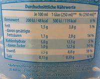 Fettarme H-Milch Laktosefrei - Nährwertangaben