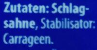 haltbare Schlagsahne - Ingredients