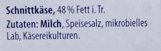 Kasländer Mild & Nussig - Ingrédients - de