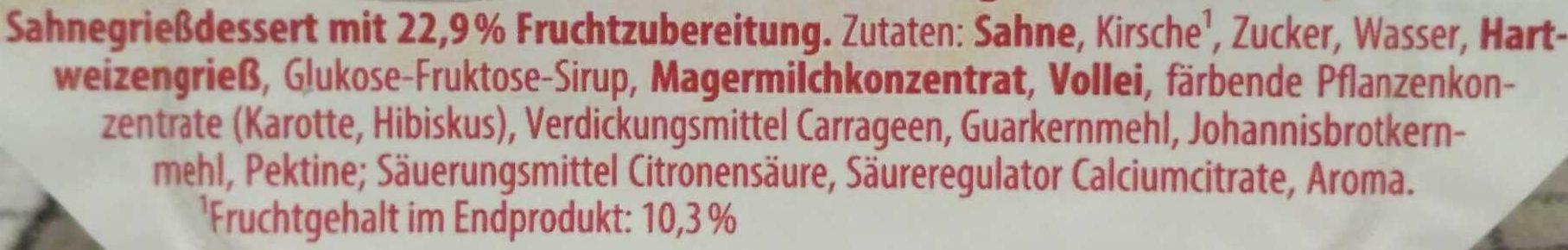 Grieß Knixx Kirsche - Ingrediënten - de