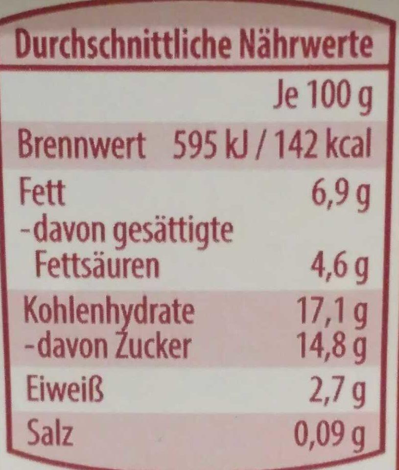 Grieß Knixx Kirsche - Voedingswaarden - de