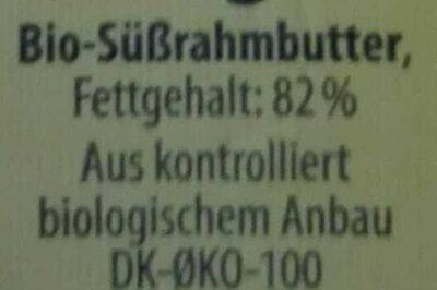 Gut Bio Butter, Sauerrahm - Ingredients
