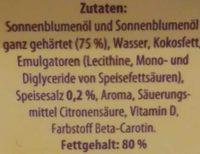 Sonnenblumen - Magarine - Inhaltsstoffe