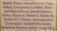 Vitareform - Inhaltsstoffe