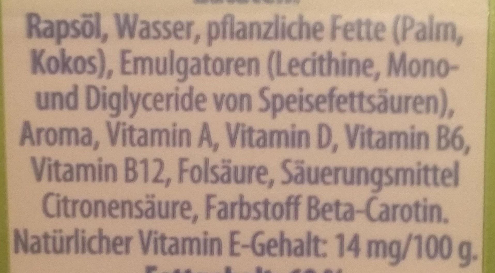 Vitareform - Ingrediënten - de