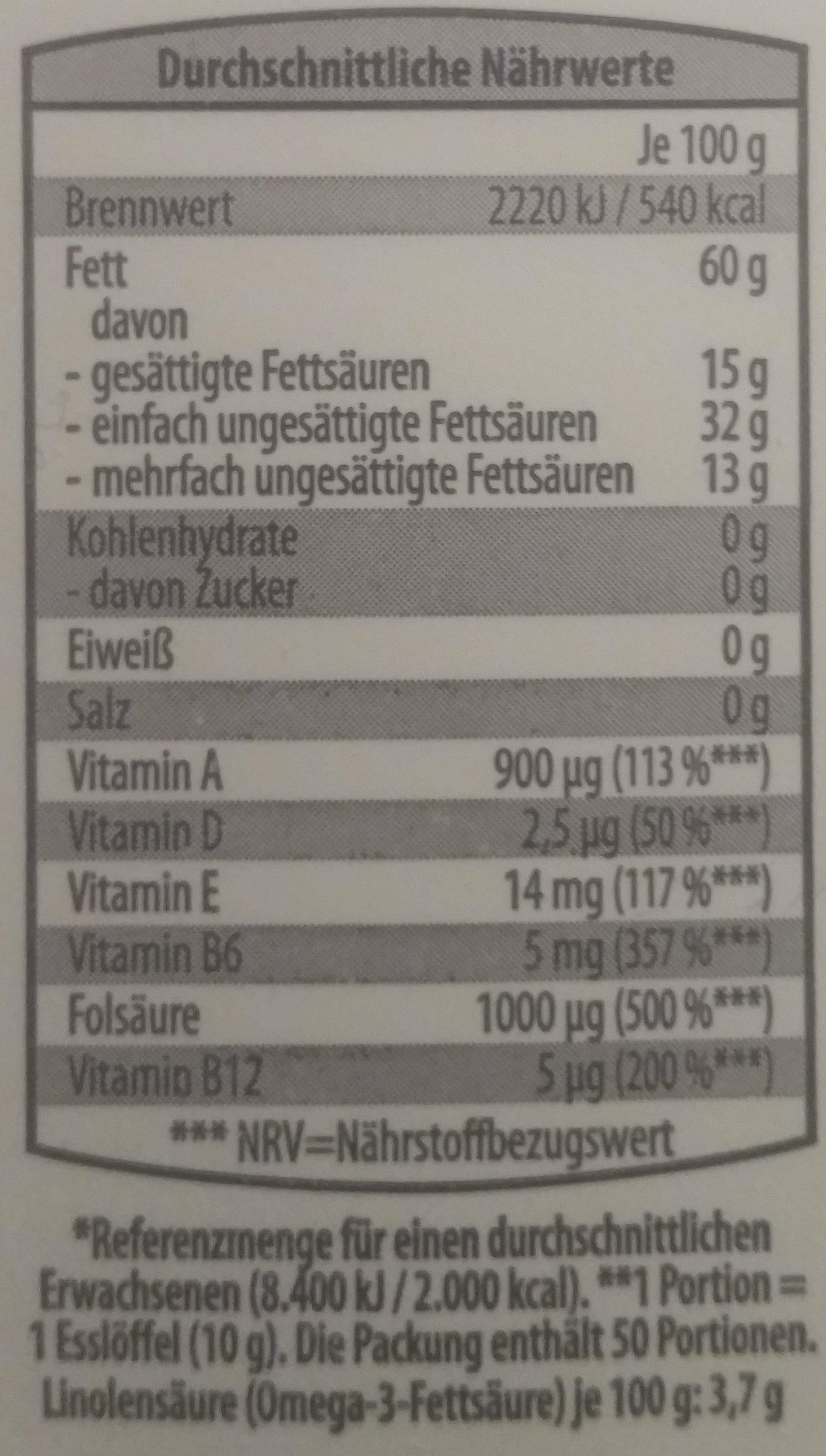 Vitareform - Voedingswaarden - de
