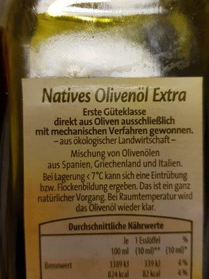 Gutbio Olivenöl Nativ Extra - Ingrediënten - de