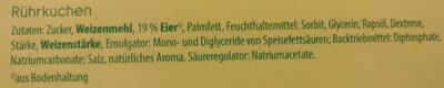 Konditor Osterlamm - Zutaten - de