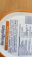 Herings Filets in Senf-Dijon Creme - Ingrédients - de