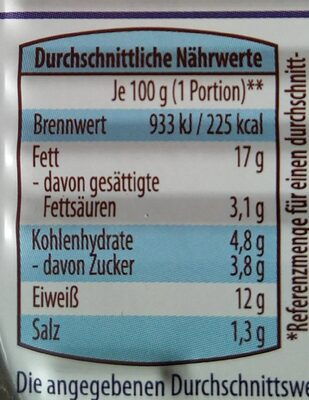 Herings Filets in Senf-Dijon Creme - Informations nutritionnelles - de