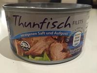 Thunfisch Filets im eigenen Saft und Aufguss - Produkt - de