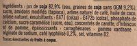 Les petits plaisirs - Soja Liégeois - Ingredients - fr