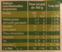 Les petits plaisirs - Soja Liégeois - Nutrition facts - fr