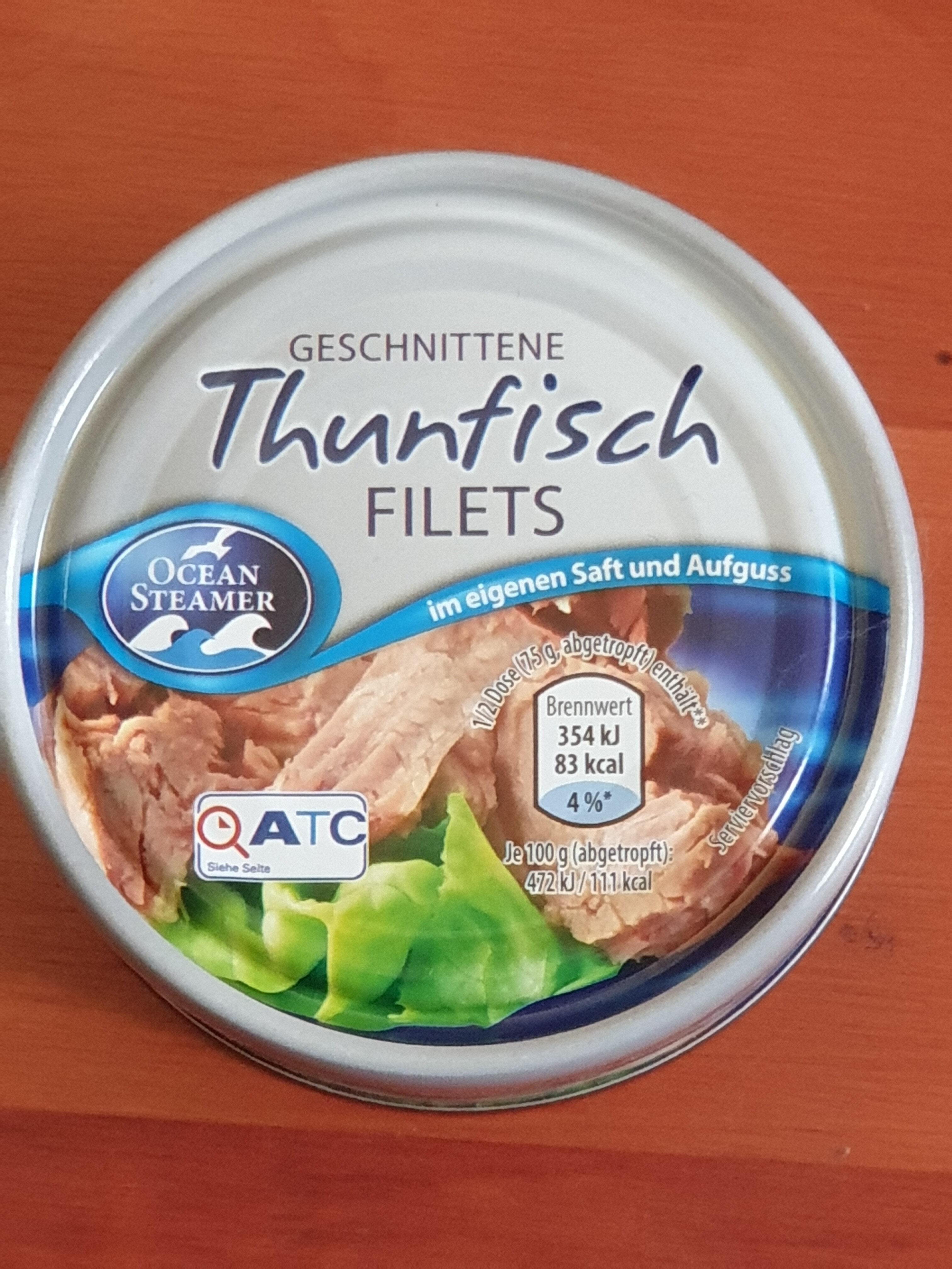 Thunfischfilets im eigenen Saft und Aufguss - Produkt - de