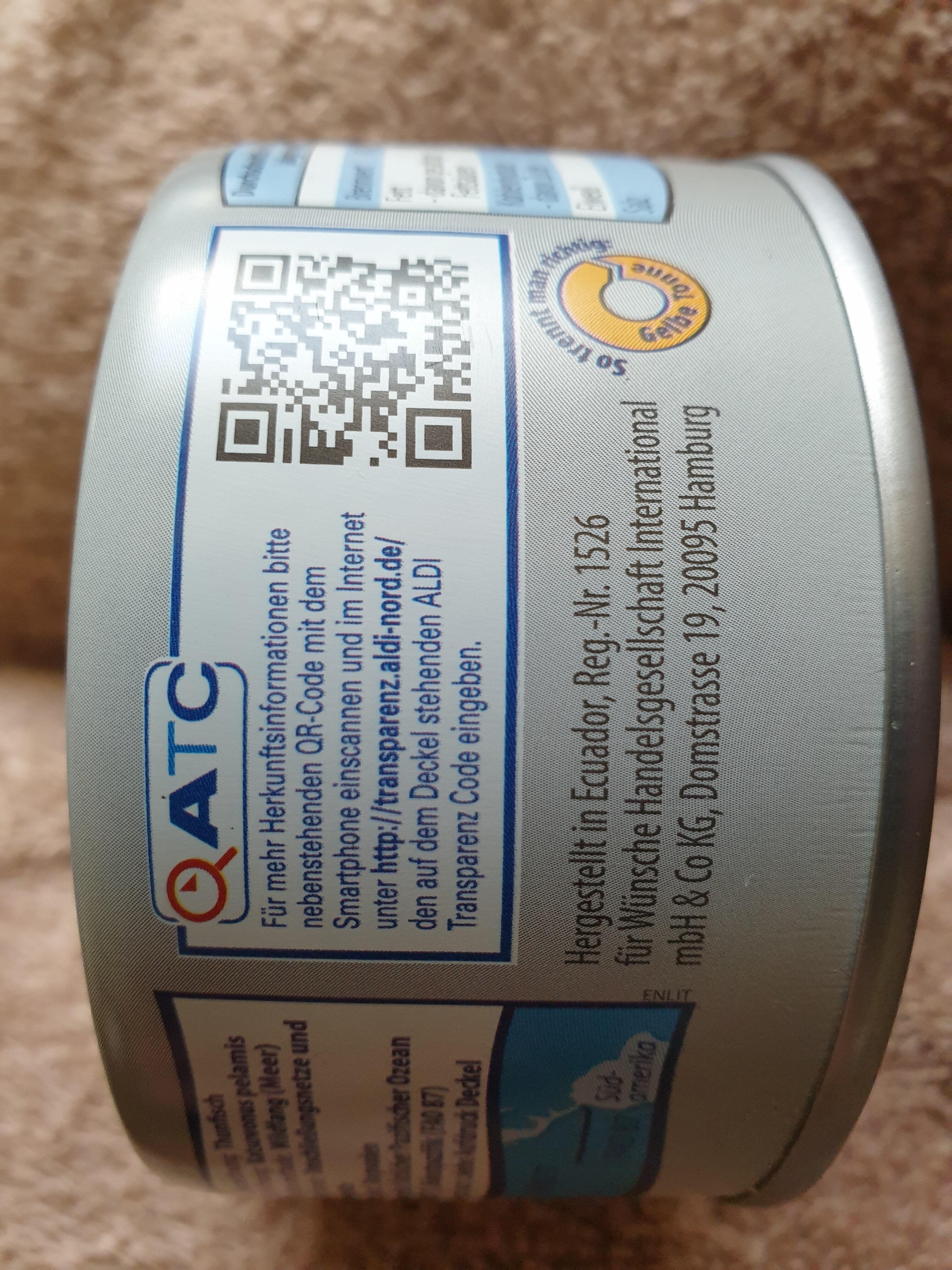 Thunfischfilets im eigenen Saft und Aufguss - Wiederverwertungsanweisungen und/oder Verpackungsinformationen - de