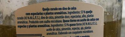 Dados de queso - Ingredients - fr