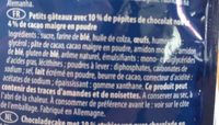 Mini muffins chocolate - Ingrédients - fr