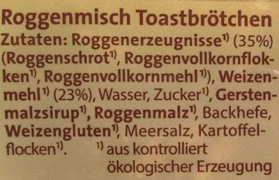 Finnkorn Toastbrötchen - Ingrédients - de