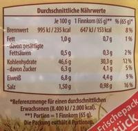 Finnkorn Toastbrötchen - Informations nutritionnelles - de