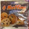 4 Muffins goût Vanille avec Pépites de Chocolat [ou au Cacao avec Pépites de Chocolat] - Product
