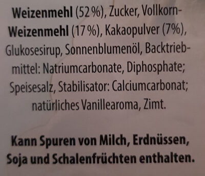 Schoko Chips - Ingredients