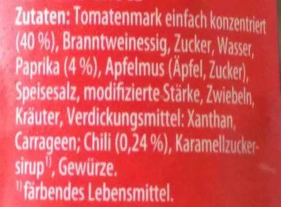 Hot Chili Grill-Sauce mit Paprikastückchen - Ingrediënten
