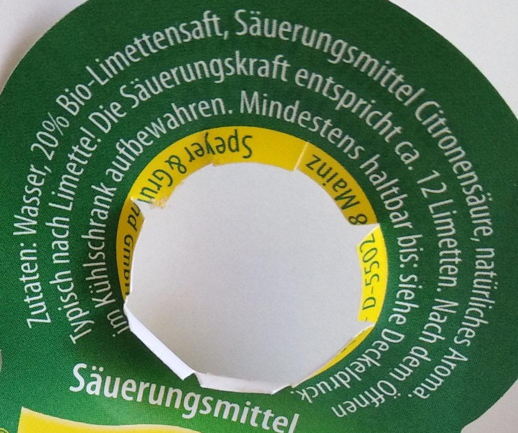 Citrovin Limette - Ingredients
